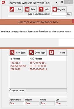 screenshot de Zamzom Wireless Network Tool