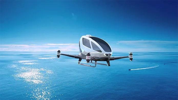 Drone mais caro do mundo, o EHang 184 pode levar uma pessoa (Foto: Divulgação/EHang)