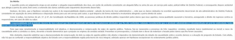 Leia trecho da decisão do TJ sobre responsabilidade do DF e empresa de armas — Foto: TJDFT/Reprodução