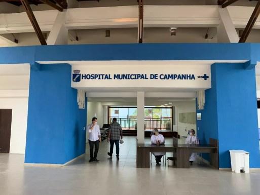 Unidade temporária fica na Via Costeira — Foto: Anna Alyne Cunha/Inter TV Cabugi