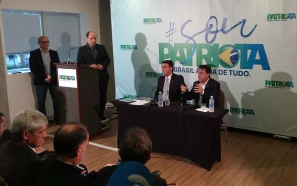 Bolsonaro anuncia 'noivado' com PEN e impõe condição à candidatura pelo partido (Foto: Nicolás Satriano/G1)