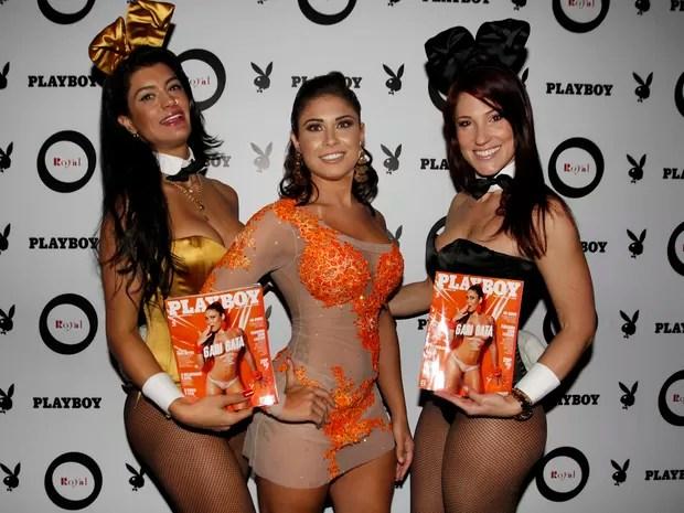 Rita Mattos, capa da Playboy de setembro, em festa em São Paulo (Foto: Celso Tavares)