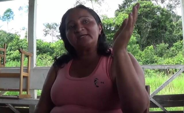 Lucila é a liderança Nawa na região — Foto: Reprodução