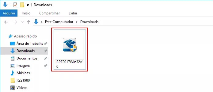 Executando o instalador do IRPF 2017 no Windows (Foto: Reprodução/Edivaldo Brito)