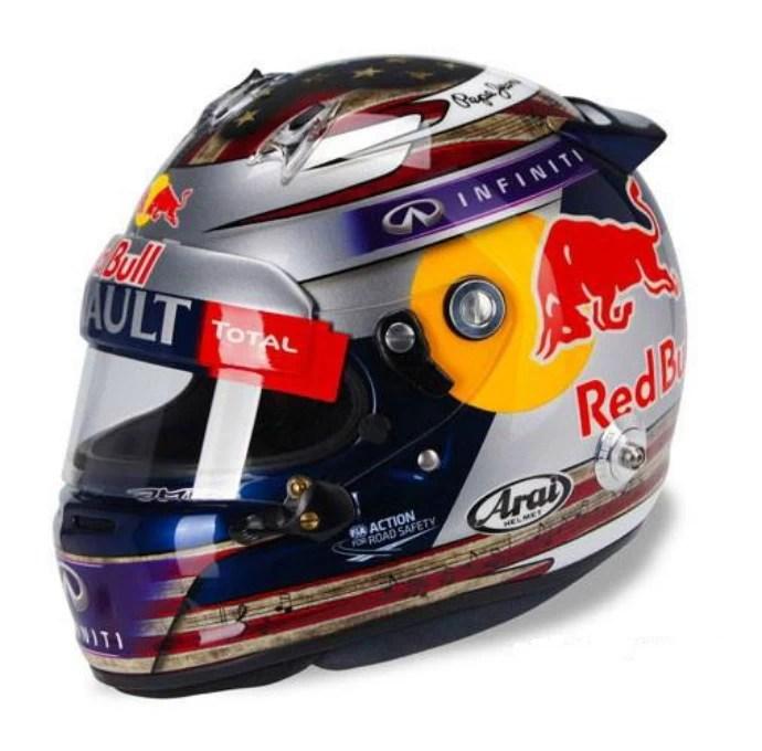 Capacete Vettel GP dos EUA 2013 (Foto: Divulgação)