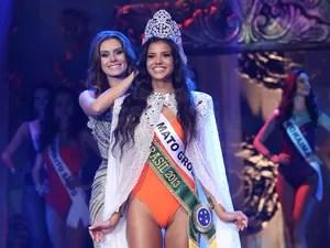 Jakelyne de Oliveira, é coroada Miss Brasil 2013. (Foto: Carol Gherardi/Band)