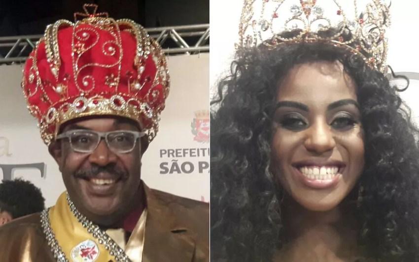 Marco Sales e Gabriela Lélis, Rei Momo e rainha do carnaval 2018 em São Paulo — Foto: Fernanda Santos/TV Globo