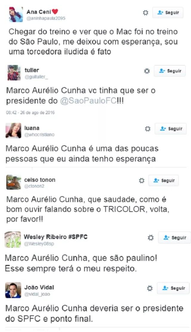 Marco Aurélio Cunha São Paulo (Foto: Reprodução/Twitter)