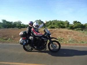 Casal vai percorrer cerca de 10 mil quilômetros na nova aventura (Foto: Bergson Pessoa/Arquivo Pessoal)