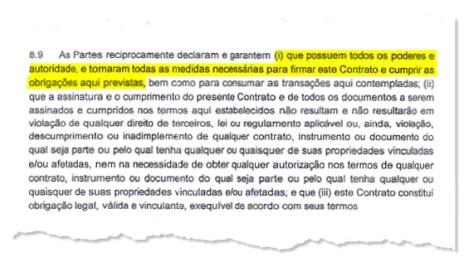 O contrato do estacionamento da Arena Corinthians (Foto: Reprodução)