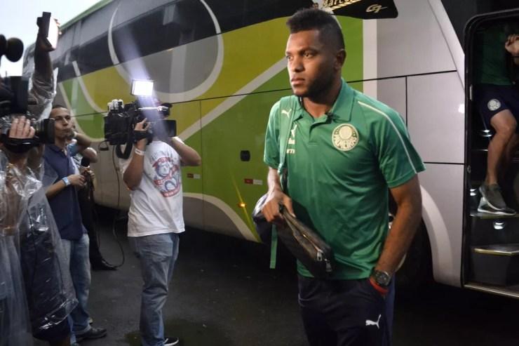 Borja lamentou o cenário para o retorno ao Palmeiras — Foto: Marcos Ribolli