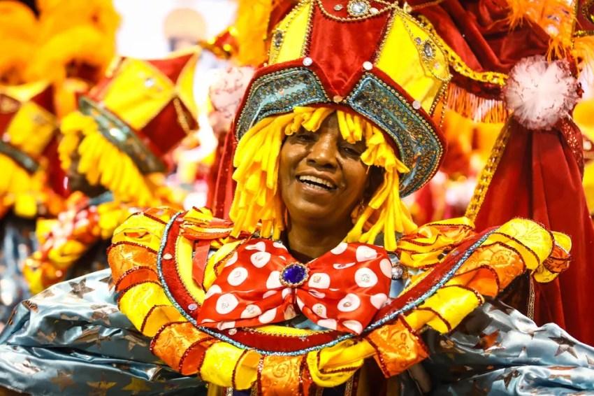 """Ala """"Meu palco é um picadeiro"""" no desfile da Dragões da Real (Foto: Fábio Tito/G1)"""