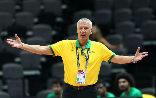 Petrovic Brasil x Alemanha basquete Pré-Olímpico — Foto: Antonio Bronic/Reuters