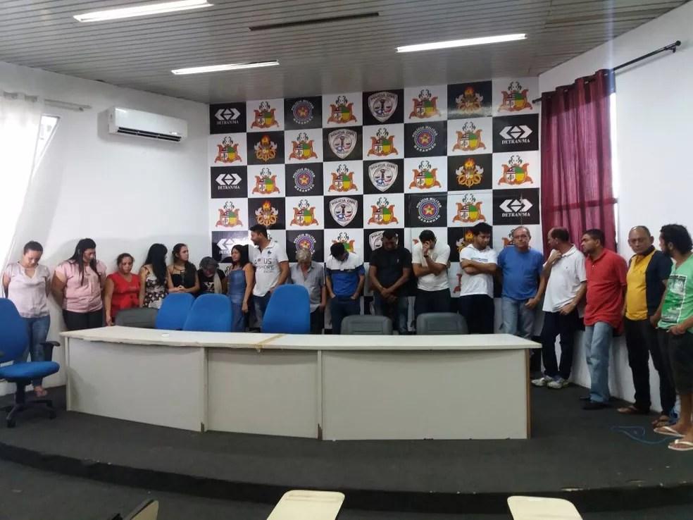 Suspeitos foram apresentados na sede da SSP (Foto: Alessandra Rodrigues / Mirante AM)