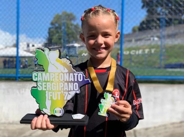 Entre as conquistas, o Campeonato Sergipano Fut7 — Foto: Arquivo Pessoal