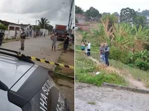 Duas pessoas foram encontradas mortas no bairro Cruz das Armas em João Pessoa (Foto: Walter Paparazzo/G1)