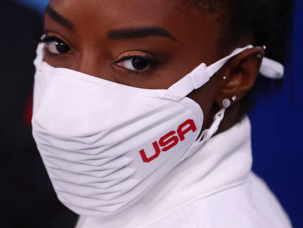 Simone Biles abandonou a competição de ginástica em Tóquio — Foto: REUTERS/Lindsey Wasson