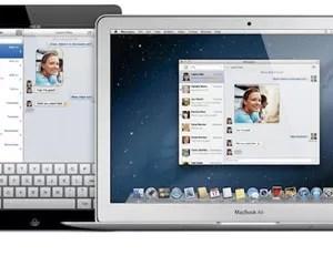 iPad e Mac conversando