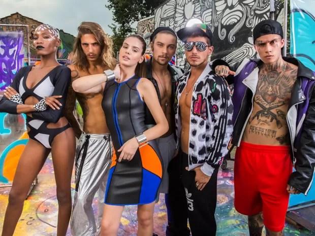 Mistura de cores vibrantes nas roupas usadas pelos modelos  (Foto: TV Globo/Beto Roma)