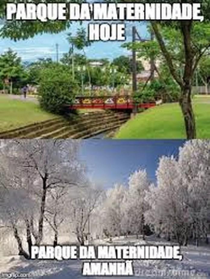 Frente fria que deve chegar no Acre no final da tarde desta quinta (20) virou meme na web — Foto: Reprodução
