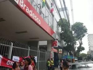 Bradesco, na Avenida Sete, em Salvador (Foto: Juliana Almirante/ G1 )