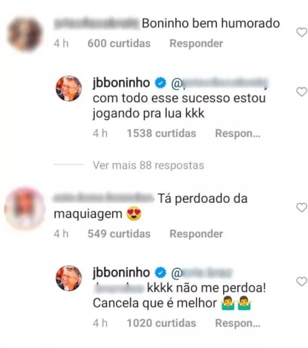 Boninho responde a seguidores (Foto: Reprodução/Instagram)