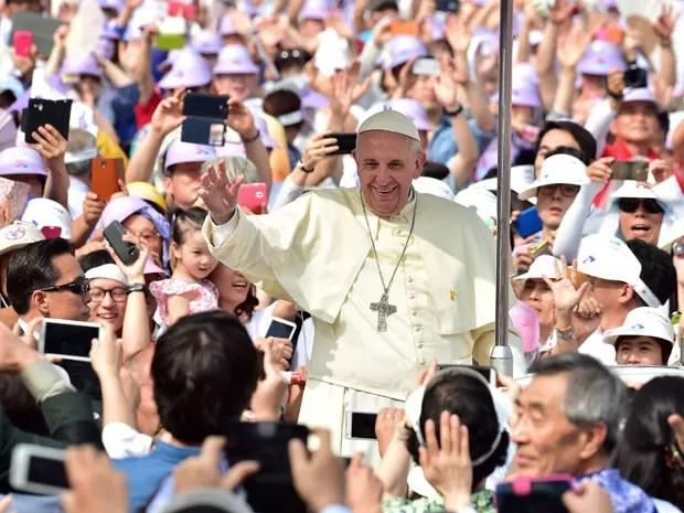 Resultado de imagem para beatificacao do papa na coreia do sul