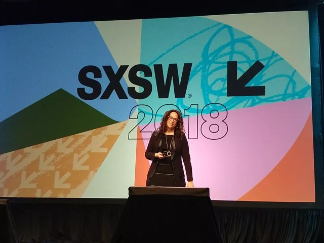 Amy Webb apresenta as tendências para o futuro na SXSW 2018 (Foto: Luiza Baptista)