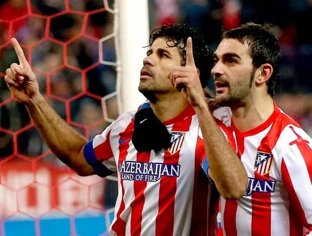 Diego Costa comemora gol do Atlético de Madri contra o Sevilla (Foto: Reuters)