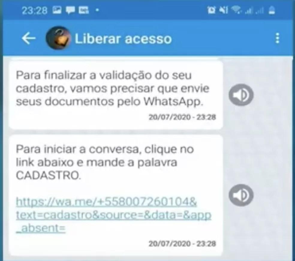 Mensagem para beneficiários que devem enviar documentos para a Caixa para regularização do Caixa Tem — Foto: Divulgação/CAIXA