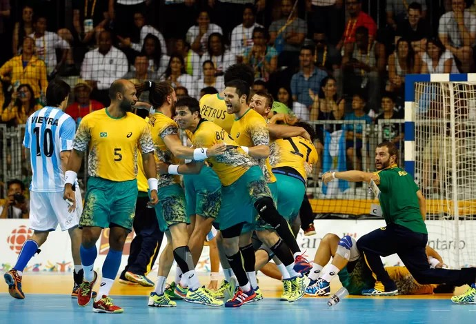 Brasil Argentina final handebol pan toronto (Foto: Getty Images)