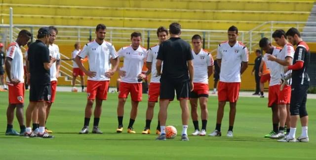 São Paulo treino (Foto: Érico Leonan / saopaulofc.net )