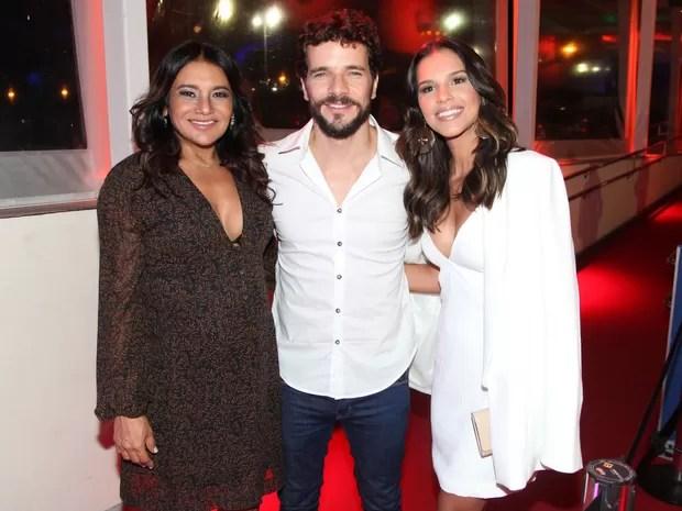 Dira Paes, Daniel de Oliveira e Mariana Rios em pré-estreia de filme na Zona Sul do Rio (Foto: Felipe Assumpção/ Ag. News)