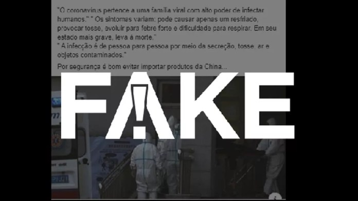 É #FAKE que produtos importados da China contêm coronavírus — Foto:  G1