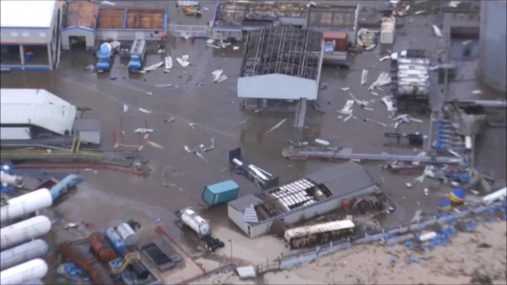 Danos causados pelo furacão Irma em Sint Maarten, parte holandesa da ilha de São Martinho, no Caribe (Foto: NETHERLANDS MINISTRY OF DEFENCE via REUTERS)