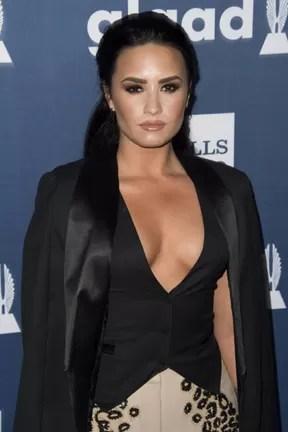 Demi Lovato em prêmio em Los Angeles, nos Estados Unidos (Foto: Valerie Macon/ AFP)