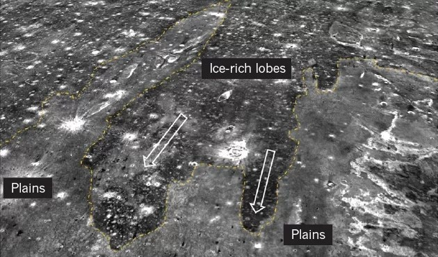 Sedimentos de água congelada circundando as planícies marcianas (Foto: Alexis Rodriguez)