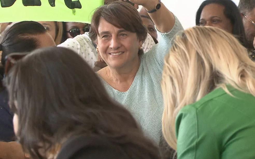 Candidata ao governo do DF, Eliana Pedrosa (Pros) (Foto: TV Globo/Reprodução)