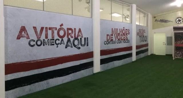 São Paulo Coloca Mensagens No Vestiário Para Motivar Os