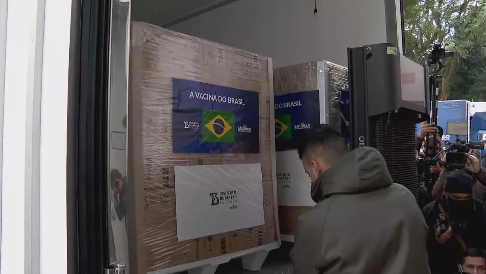 Butantan libera mais 1 milhão de doses da CoronaVac nesta quarta  — Foto: Reprodução/TV Globo