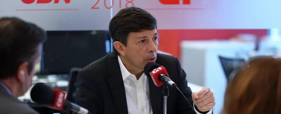 João Amoêdo, do partido Novo, durante entrevista ao G1 e à CBN — Foto: Marcelo Brandt/G1
