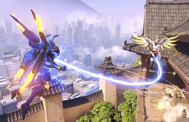 Cena do jogo 'Overwatch', apresentado pela Blizzard durante a conferência BlizzCon 2014. (Foto: Divulgação/Blizzard)