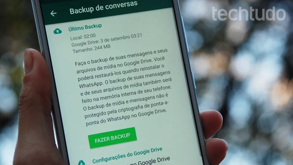 WhatsApp ganha backup ilimitado no Android — Foto: Raquel Freire/TechTudo