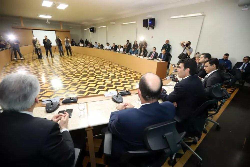 Governador do Pará, Helder Barbalho, anuncia criação de um Grupo de Trabalho  — Foto: Divulgação/Agência Pará