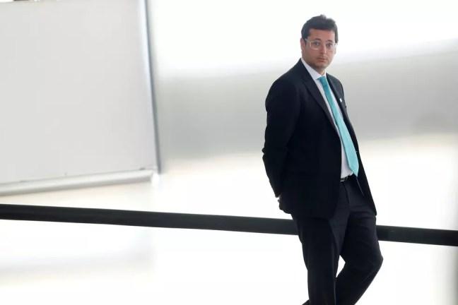 Fábio Wajngarten, chefe da Secretaria Especial de Comunicação Social , no Palácio do Planalto — Foto: Adriano Machado/Reuters