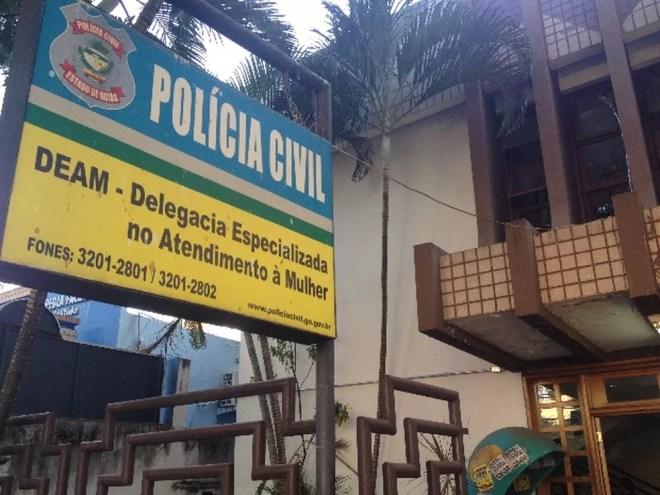 Mulher registrou ocorrência em Goiânia (Foto: Vanessa Martins/G1)
