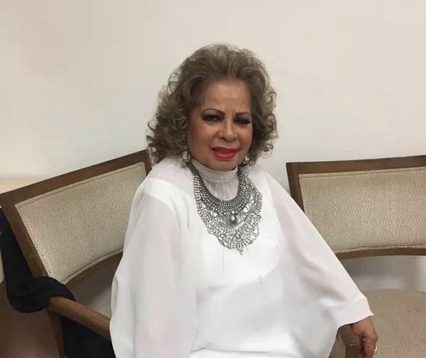 A cantora Ângela Maria, de 89 anos, morreu de infecção generalizada e parada cardíaca (Foto: Reprodução/Facebook)