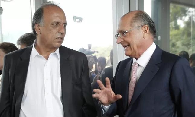 Resultado de imagem para imagens do governador pezão com alckmin