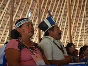 Indígenas acompanharam a realização do júri popular indígena na Raposa Serra do Sol, no Nordeste de Roraima (Foto: Emily Costa/ G1 RR)
