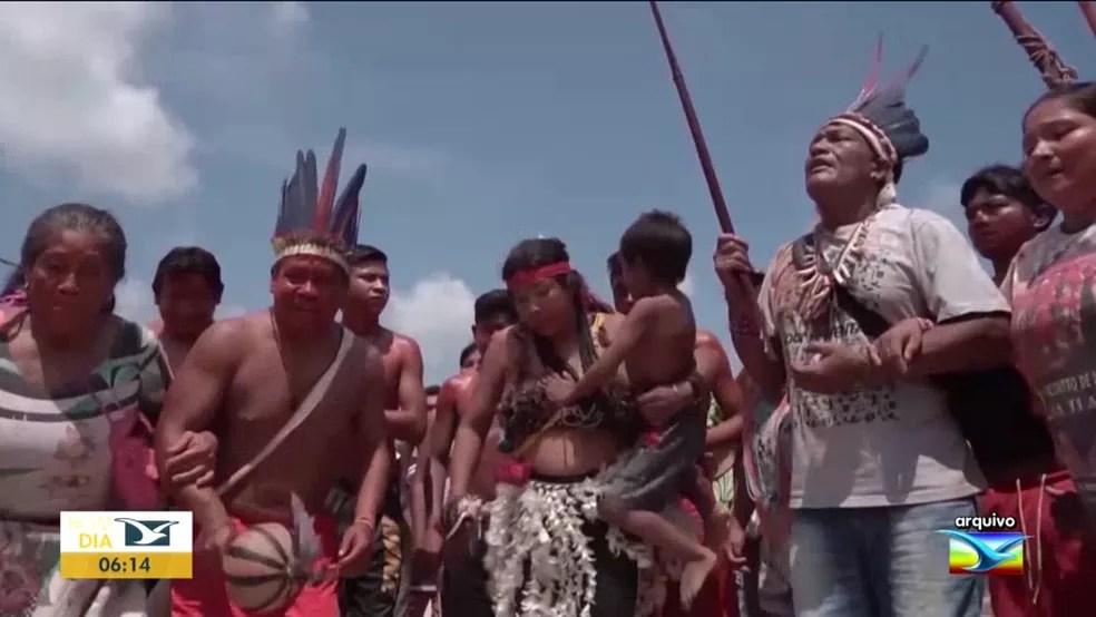 Índios se isolam nas aldeias do MA por causa do novo coronavírus — Foto: Reprodução/TV Mirante
